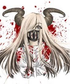 Anime demon girl with horns girl horns demon ocs anime drawing by