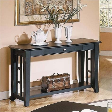 Hollow Core Sofa Table In Black Forest 5189012ycom Black Sofa Tables