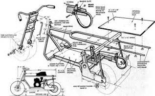 A Frame Blueprints trail mini bike frame plans diy go karts free building plans