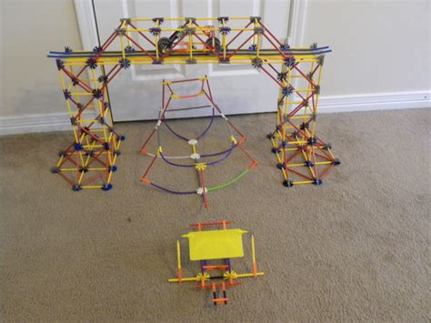 how to make a knex boat knex truss bridge with boat car and ferry all