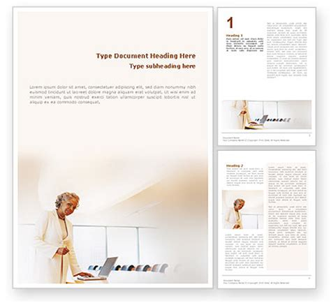Preparing Presentation Word Template 01660 Poweredtemplate Com Word Presentation Templates