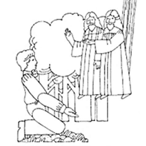 lds coloring pages of the first vision joseph smith s first vision liahona feb 2001 liahona