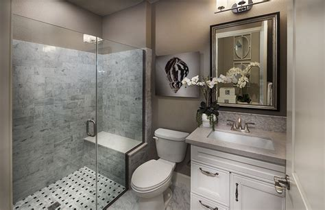 Bathroom Pictures by Traditional 3 4 Bathroom With High Ceiling Flat Panel