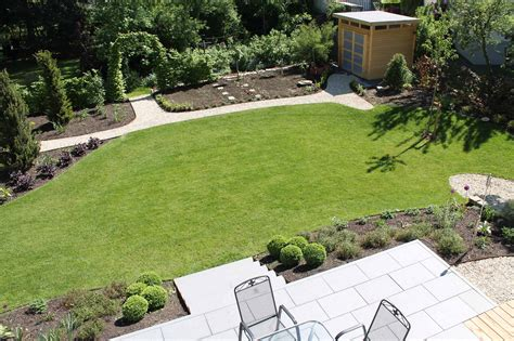 terrasse mit blick in den garten kemper greenart