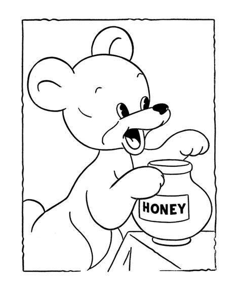 honey bear coloring pages bluebonkers teddy bear coloring page sheets honey bear