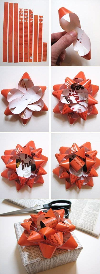 How To Make Bows Out Of Wrapping Paper - 25 best ideas about wrapping paper bows on