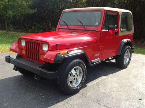 1992 Jeep Wrangler Gas Mileage Buy Used 1992 Jeep Wrangler S Sport Utility 2 Door 2 5l In