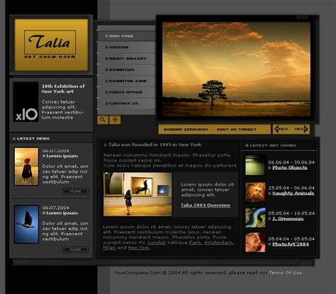 Art Gallery Website Template 6048 Photo Gallery Website Template Free