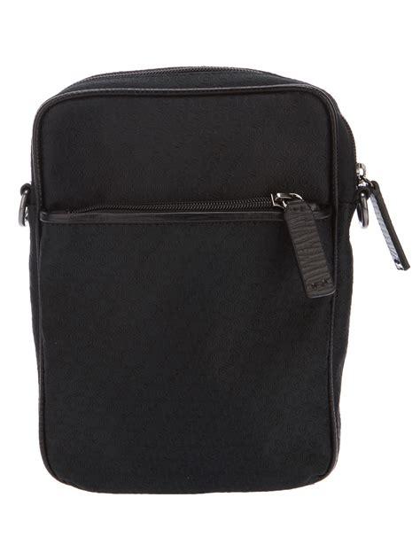 Giorgio Armani Bag Rc001 giorgio armani monogram cross bag in black for lyst