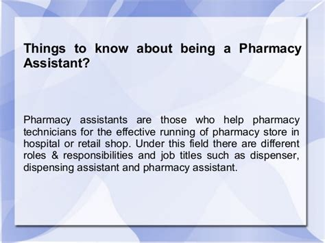 Pharmacist Assistant Description by Things To About Being A Pharmacy Assistant