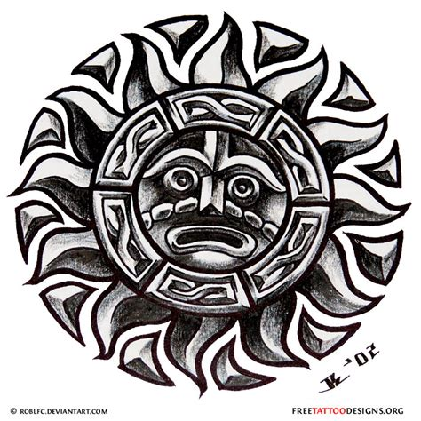 aztec tribal pattern meaning aztec tribal sun tattoo design things to wear