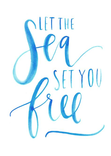 printable beach fonts let the sea set you free printable free printable