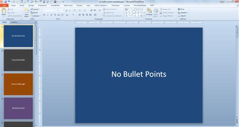 No Bullet Points Template For Powerpoint Powerpoint 2013 Custom Templates