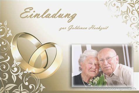 Einladung Zur Goldenen Hochzeit by Einladungskarte Goldene Hochzeit Gestalten Divashop Co