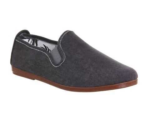 mens flossy cuenca plimsole grey denim canvas casual shoes