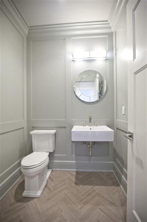 gray powder room walls design ideas
