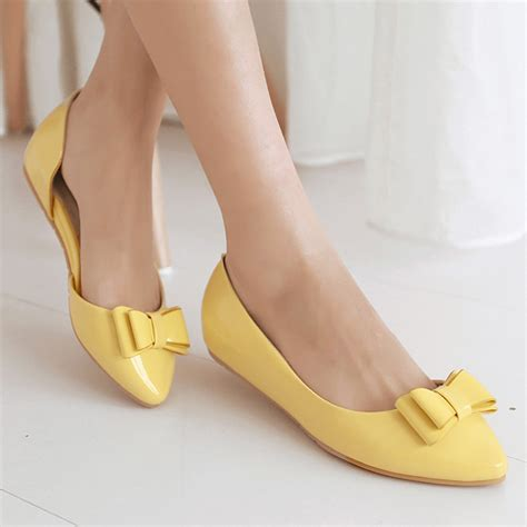 Wedges Slope Stripe Da1007 patent yellow shoes promotion shop for promotional patent yellow shoes on aliexpress