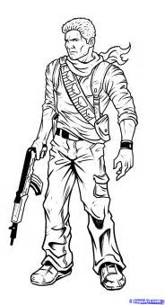how to draw nathan drake uncharted 3 step by step video