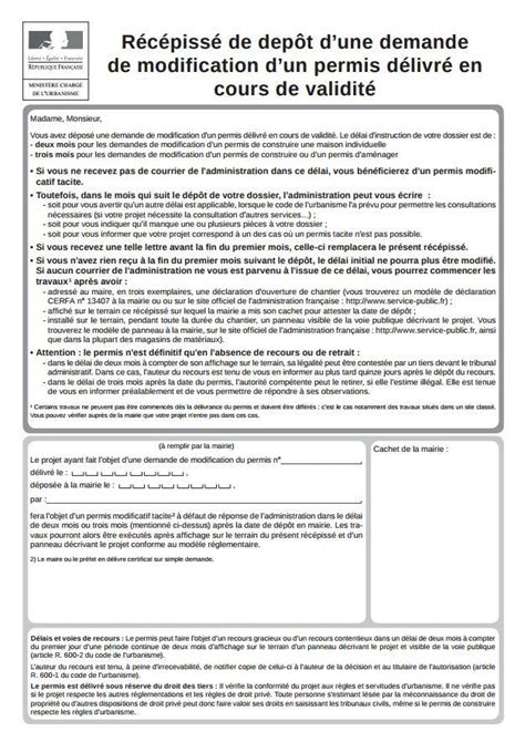 Modification Permis De Construire by Permis De Construire Modificatif Archionline