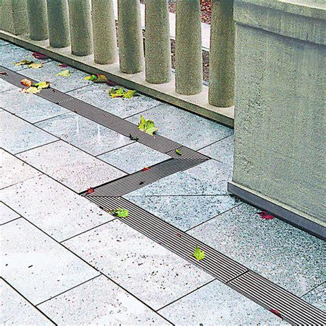 terrasse drainage caniveaux en acier galvanis 233 pour terrasses toitures et