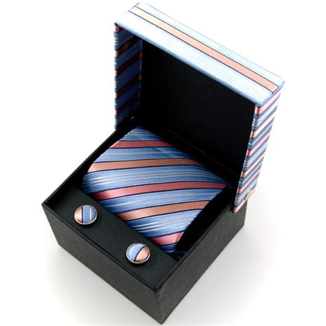 ties planet light blue pink silver striped silk tie