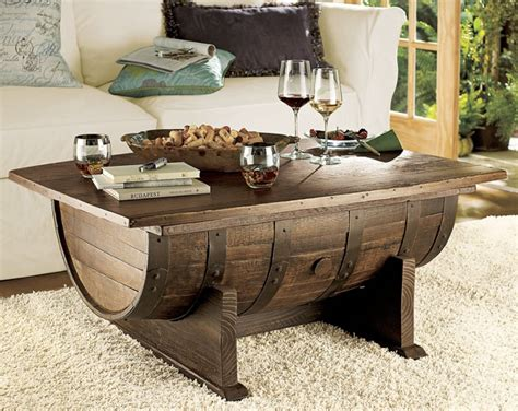 whiskey barrel coffee table whiskey barrel coffee table