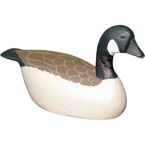wooden canada miniature carved wooden canada goose from vanbibber on