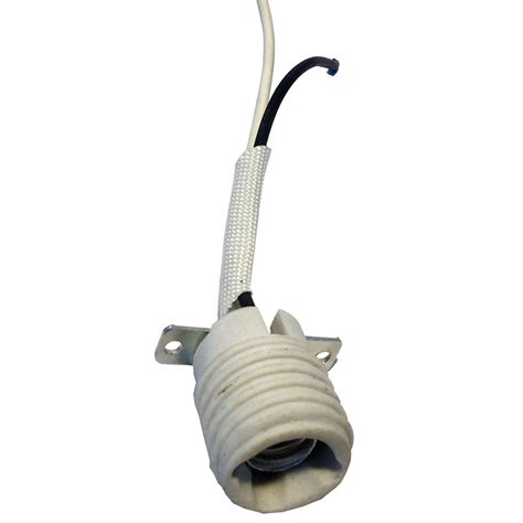 Ceiling Fan Light Socket Replacement Parts with Shop Harbor White L Socket At Lowes