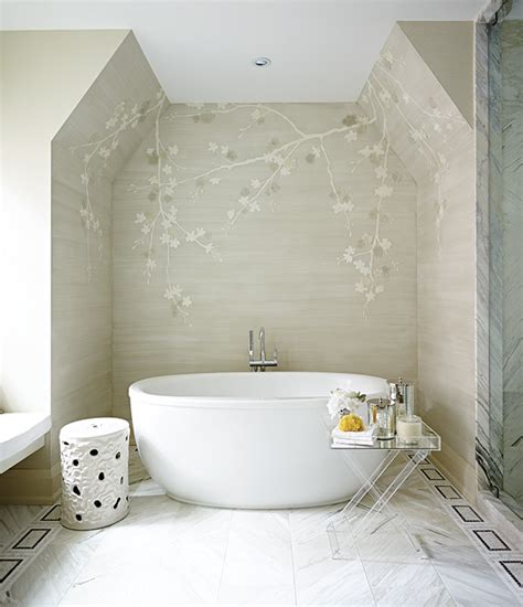 white bathroom table white and gray chinoiserie bathroom with acrylic tray table asian bathroom