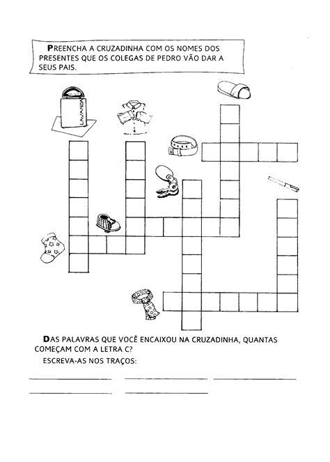 Atividades de Cruzadinha Para Educação Infantil Para