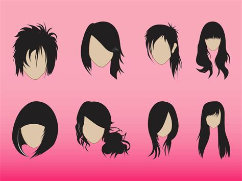 graphics design haircuts hairstyles graphics set vector art graphics freevector com
