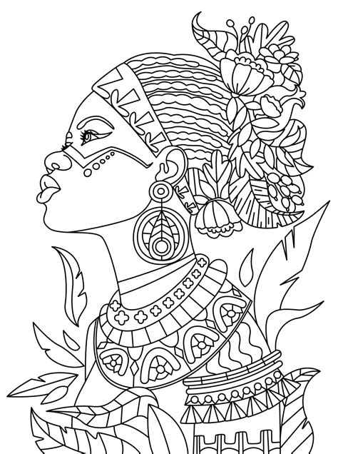 african queen coloring page african colorish coloring book app for adults mandala