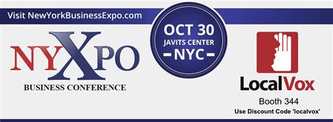 nyc convention promo code new york business expo oct 30th 2014 discount code localvox vivial