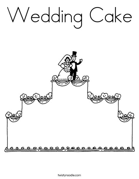 coloring page wedding cake wedding cake coloring page twisty noodle