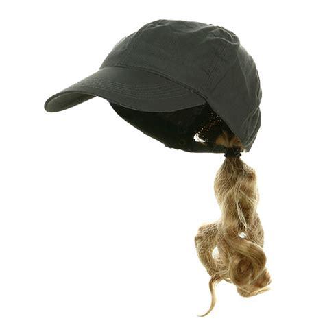 ponytail baseball cap grey hats