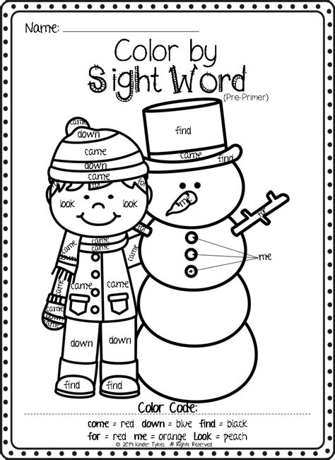 Worksheet Color By Sight Word Worksheets Mifirental Free Sight Word Coloring Pages