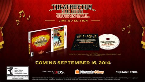 theatrhythm final fantasy curtain call 3ds theatrhythm final fantasy curtain call release date set