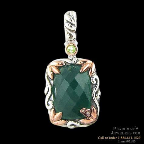 bellarri jewelry green onyx and peridot pendant