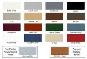 berridge color chart standing seam metal roof colors roselawnlutheran