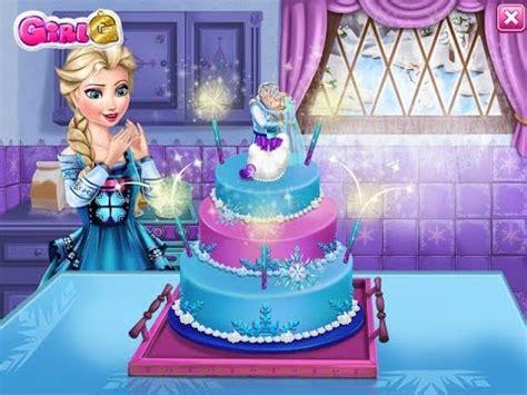 frozen elsa jack wedding cake game episode ♥ youtube