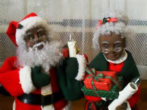 african american santa claus and mrs claus doll by shirepipes