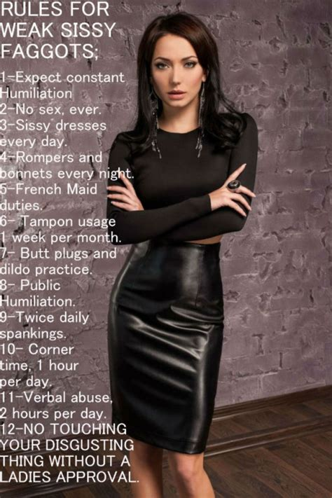 Sissy Maid Rules | lady makes the rules cuckold rules pinterest tg