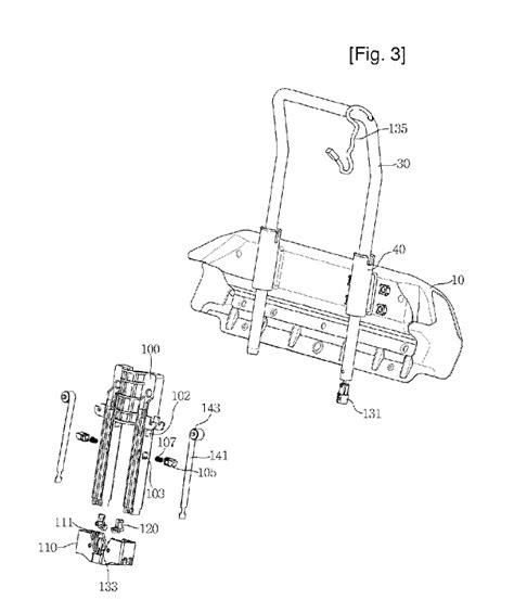 car seat structure patent us8167376 car seat headrest mounting structure