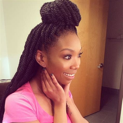 hairstyles with marley hair updos brandy marley twists braids marley twists twisted braid