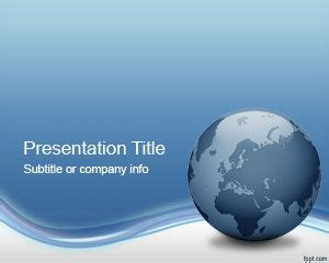 Globe Tech Powerpoint Template Ppt Template Globe Powerpoint Template
