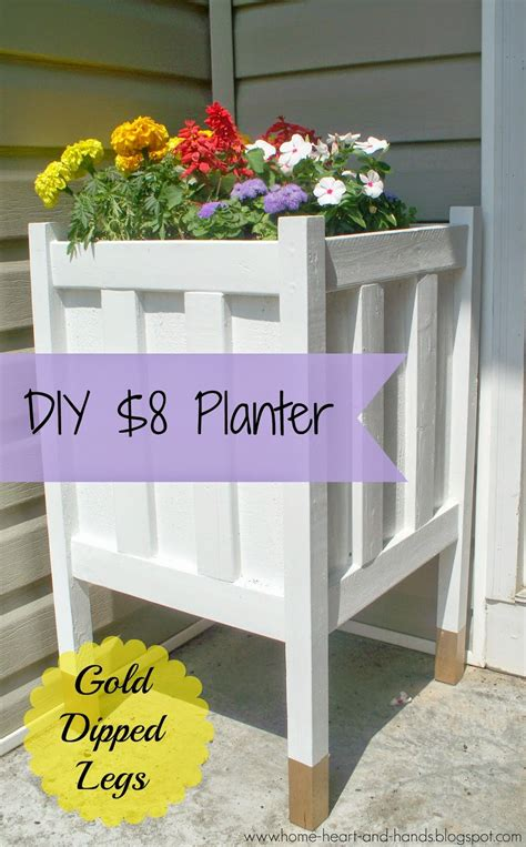 home and diy front porch planter with gold