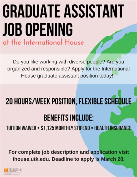 Of Tennessee Knoxville Mba Deadline by Graduate Assistant Position In The International House