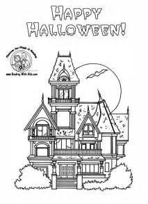halloween coloring pages of a haunted house collections