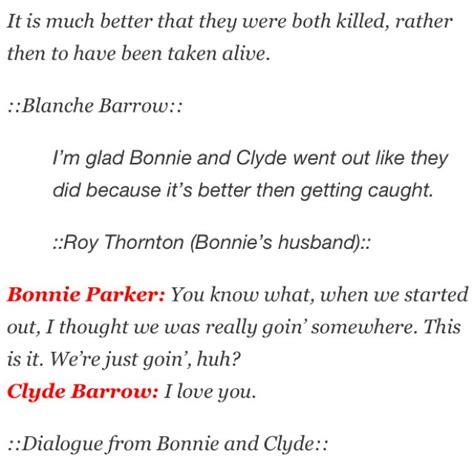 bonnie and clyde quotes bonnie and clyde quotes sayings quotesgram
