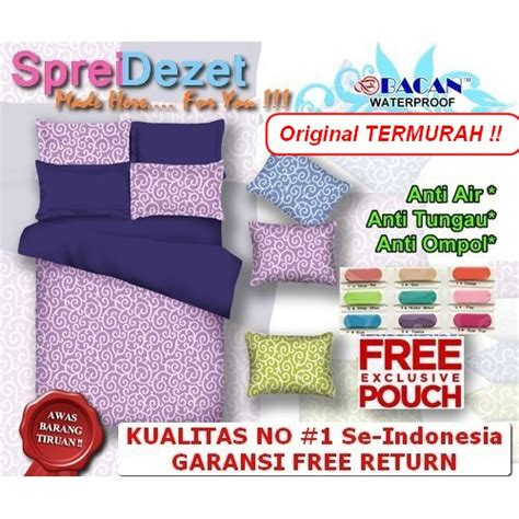 sprei waterproof motif ukir sprei anti ompol sprei anti air ukuran 160x200 180x200 120x200